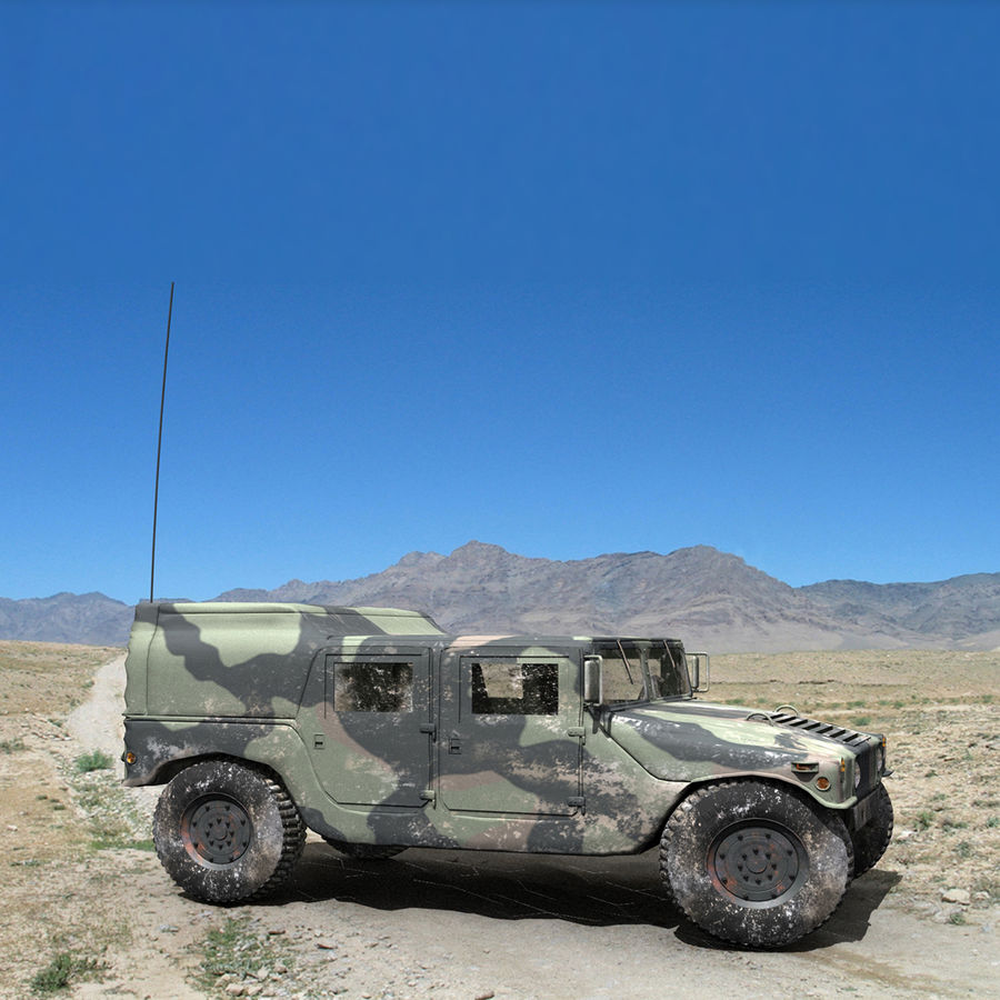 Military Humvee royalty-free 3d model - Preview no. 2