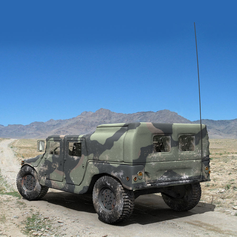 Military Humvee royalty-free 3d model - Preview no. 4