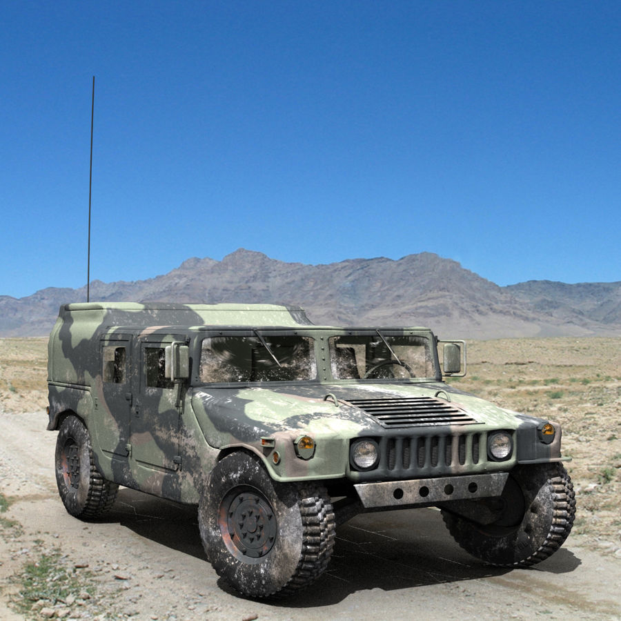 Humvee militar royalty-free modelo 3d - Preview no. 1