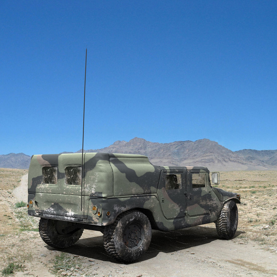 Military Humvee royalty-free 3d model - Preview no. 3