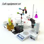Lab equipment set 3d model