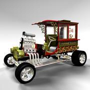 Vagão de pipoca 3d model