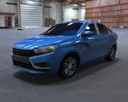 Lada Vesta Low poly 3d model