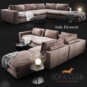 Sofa Element Sofa Club 3d model