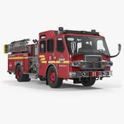 Fire Apparatus E One Quest Seattle Modelo 3D 3d model