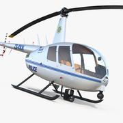 Helikopter policyjny Robinson R44 3d model