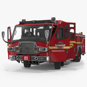 Fire Apparatus E-One Quest Seattle Rigged Modelo 3D 3d model
