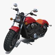 Cruiser motorcykel generisk riggad 3D-modell 3d model