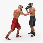 2つのボクサーの戦い 3d model