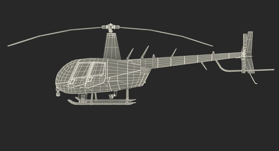 Police Helicopter Robinson R44 Rigged royalty-free 3d model - Preview no. 26