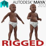 マヤのために装備されたアフリカ系アメリカ人の赤ちゃん 3d model