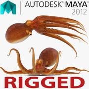 Обыкновенный осьминог, приспособленный для Майи 3d model