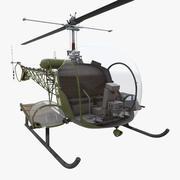 Bell H 13 Sioux Armia Stanów Zjednoczonych 3d model