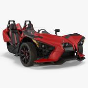 Polaris Slingshot Trike Red 2016 3d model