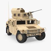 ハンビーM1151強化された兵器運搬船の装備された砂漠 3d model
