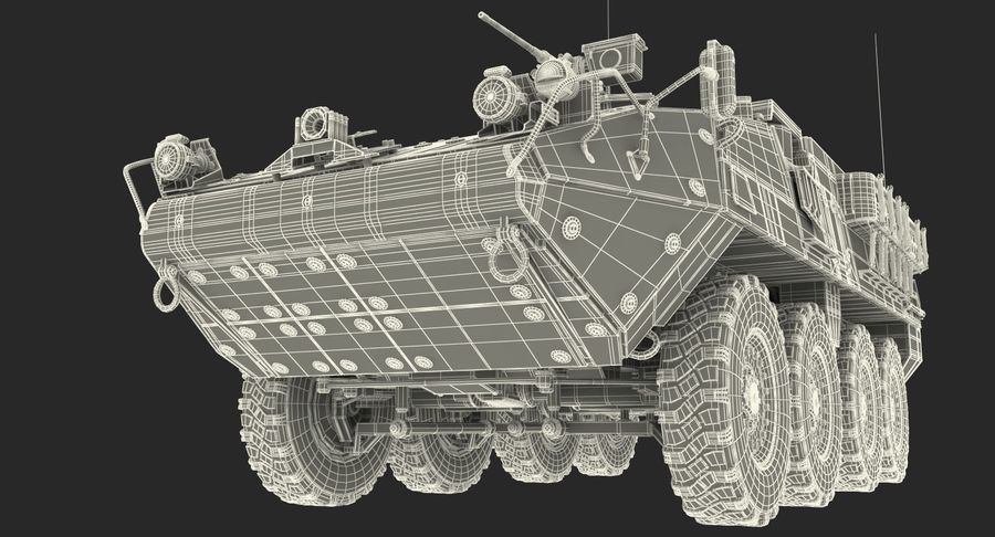Interim Armored Vehicle Stryker M1126 royalty-free 3d model - Preview no. 23