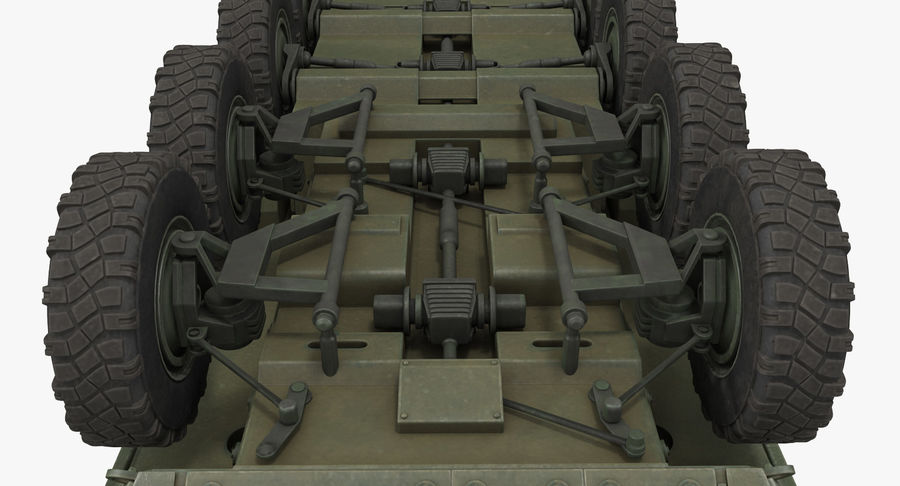 Interim Armored Vehicle Stryker M1126 royalty-free 3d model - Preview no. 14