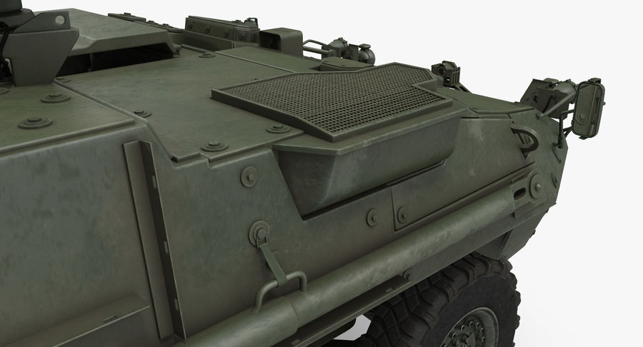 Interim Armored Vehicle Stryker M1126 royalty-free 3d model - Preview no. 11