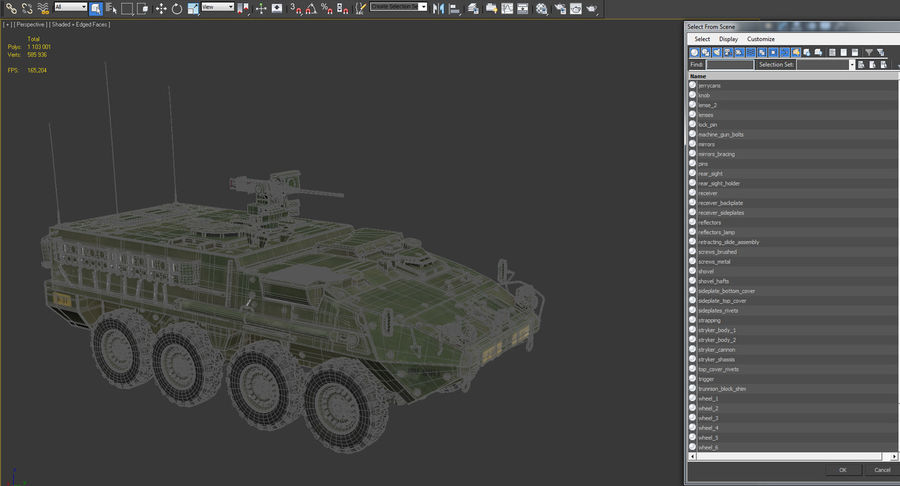 Interim Armored Vehicle Stryker M1126 royalty-free 3d model - Preview no. 20