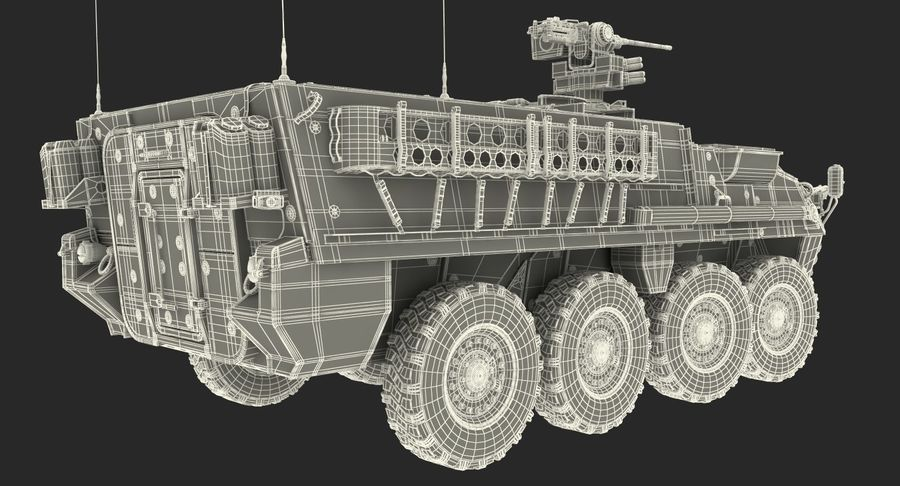 Interim Armored Vehicle Stryker M1126 royalty-free 3d model - Preview no. 21