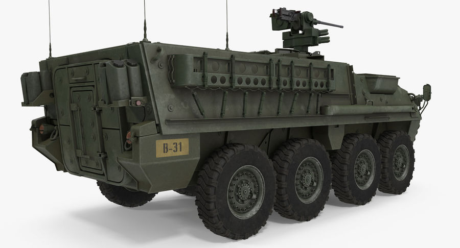 Interim Armored Vehicle Stryker M1126 royalty-free 3d model - Preview no. 7