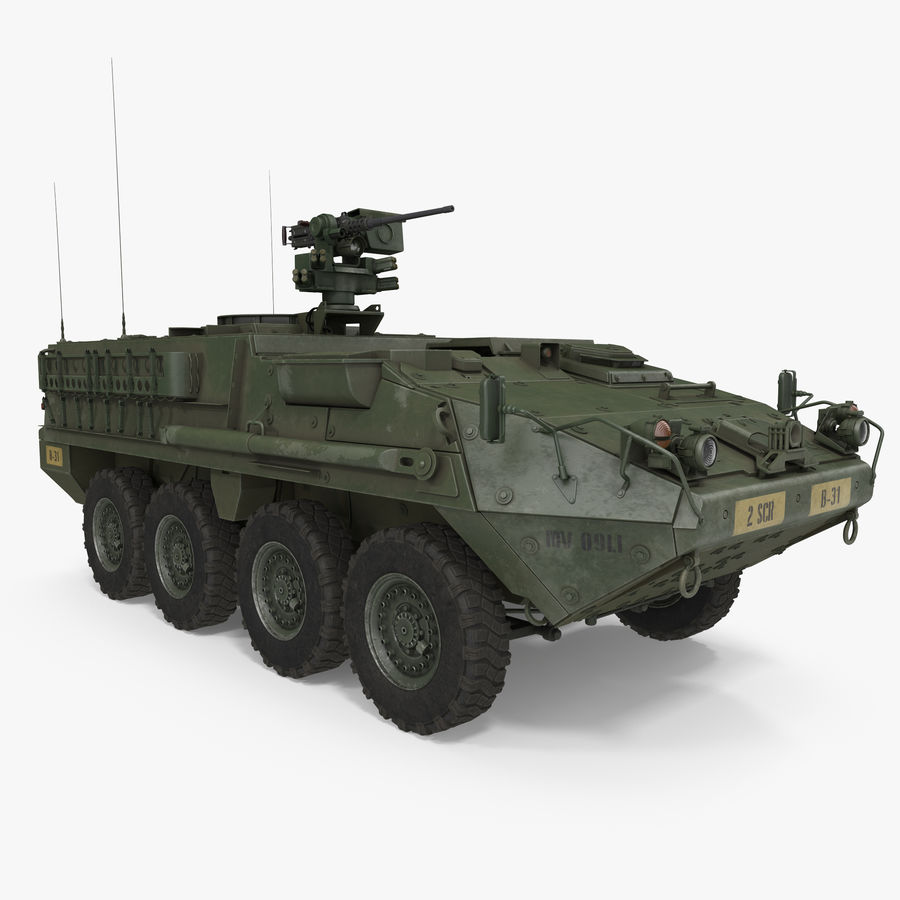 Interim Armored Vehicle Stryker M1126 royalty-free 3d model - Preview no. 1