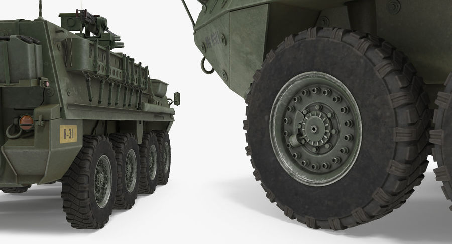 Interim Armored Vehicle Stryker M1126 royalty-free 3d model - Preview no. 12