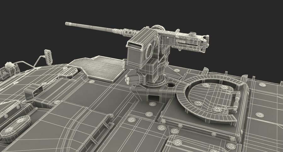 Interim Armored Vehicle Stryker M1126 royalty-free 3d model - Preview no. 27