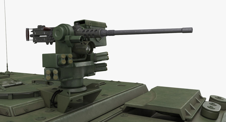 Interim Armored Vehicle Stryker M1126 royalty-free 3d model - Preview no. 8
