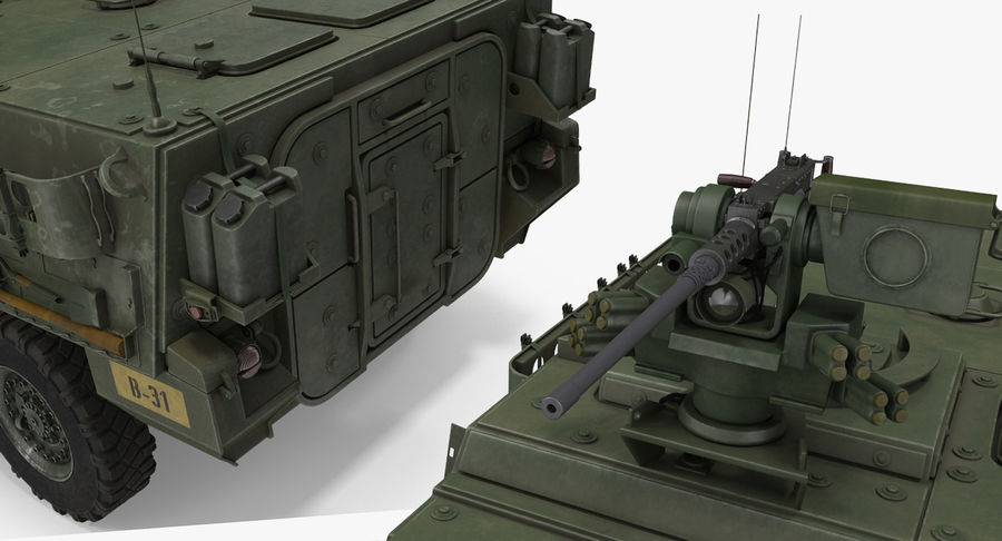 Interim Armored Vehicle Stryker M1126 royalty-free 3d model - Preview no. 10