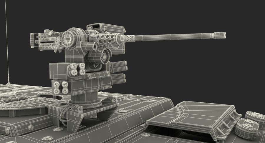 Interim Armored Vehicle Stryker M1126 royalty-free 3d model - Preview no. 26