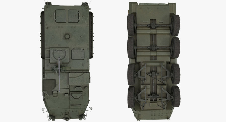 Interim Armored Vehicle Stryker M1126 royalty-free 3d model - Preview no. 15
