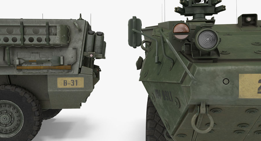 Interim Armored Vehicle Stryker M1126 royalty-free 3d model - Preview no. 9