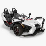 Polaris Slingshot Trike White 2016 3d model