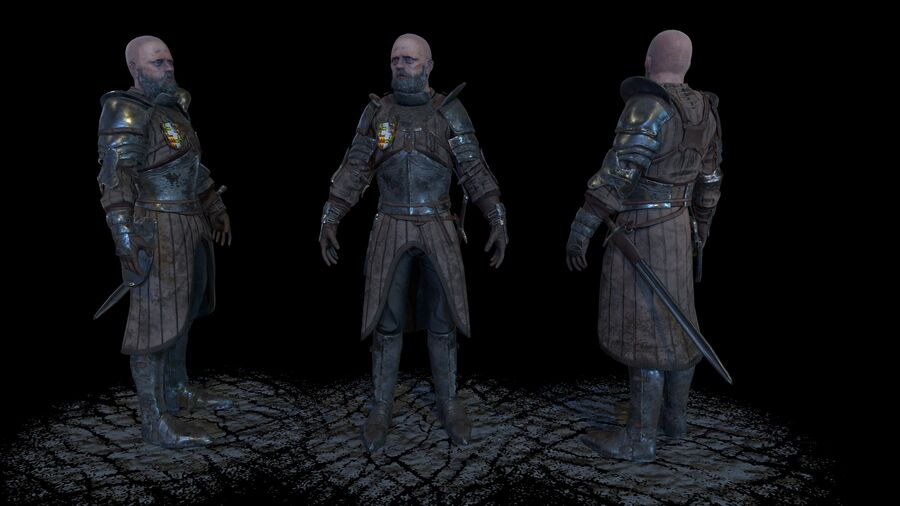 Knight royalty-free 3d model - Preview no. 1