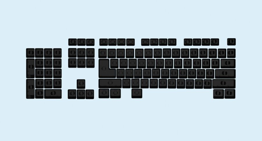 Computer Keys royalty-free 3d model - Preview no. 11
