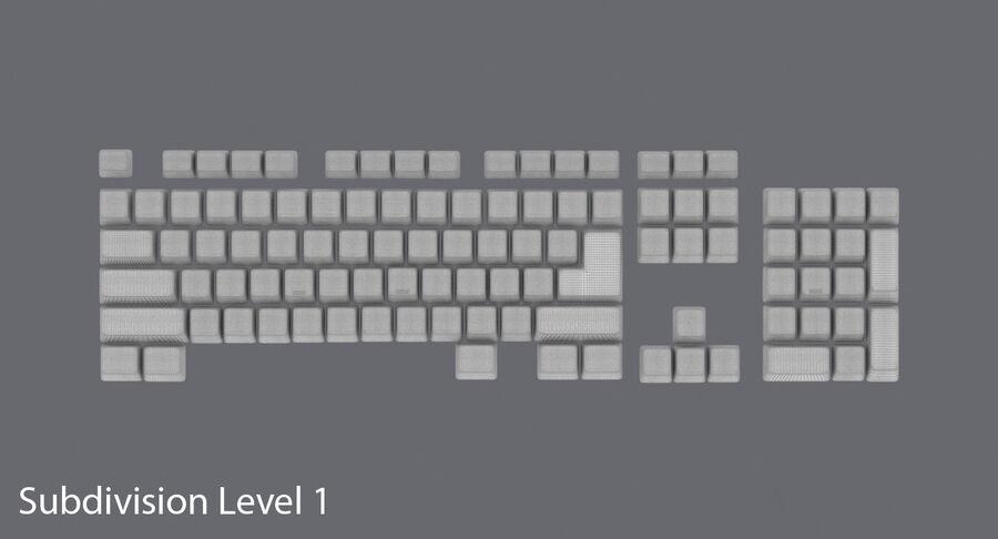 Computer Keys royalty-free 3d model - Preview no. 16