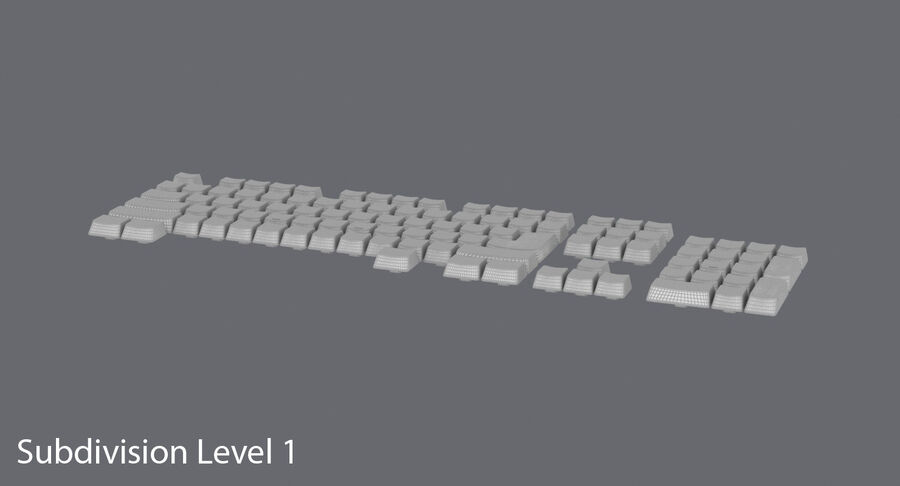 Computer Keys royalty-free 3d model - Preview no. 15