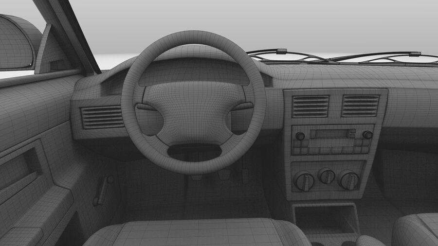 Generic car (Sedan) royalty-free 3d model - Preview no. 43