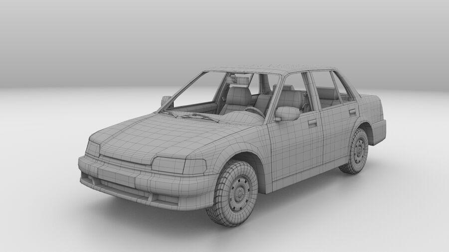 Generic car (Sedan) royalty-free 3d model - Preview no. 16