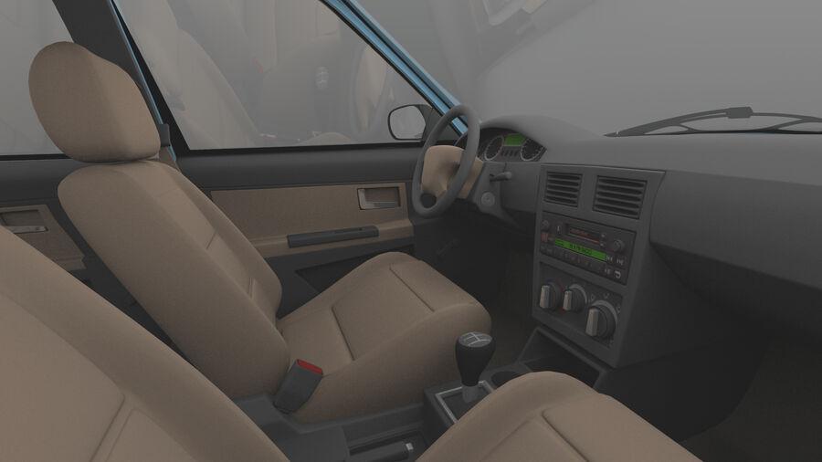 Generic car (Sedan) royalty-free 3d model - Preview no. 12