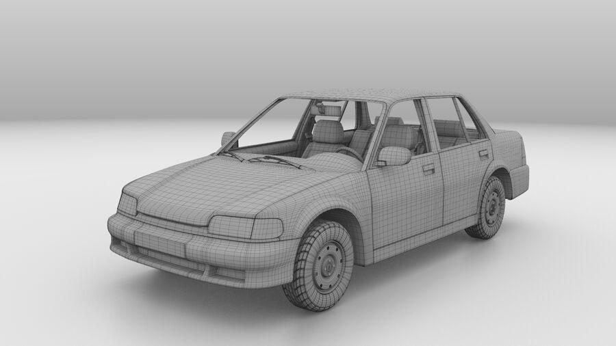Generic car (Sedan) royalty-free 3d model - Preview no. 17