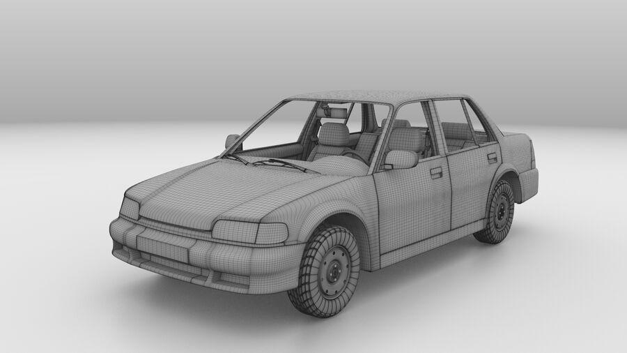 Generic car (Sedan) royalty-free 3d model - Preview no. 18