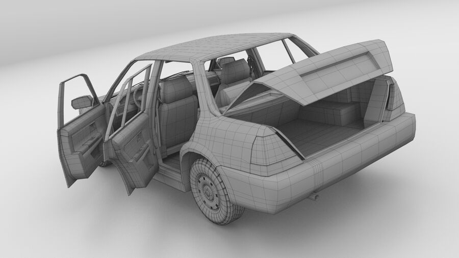 Generic car (Sedan) royalty-free 3d model - Preview no. 24