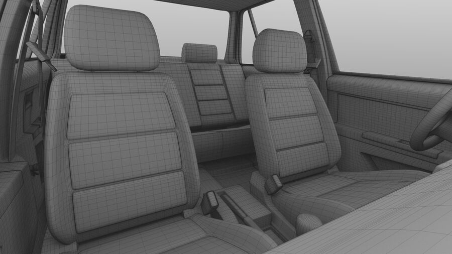 Generic car (Sedan) royalty-free 3d model - Preview no. 37