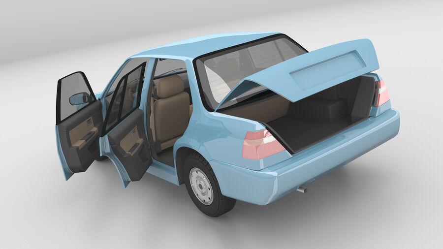 Generic car (Sedan) royalty-free 3d model - Preview no. 5