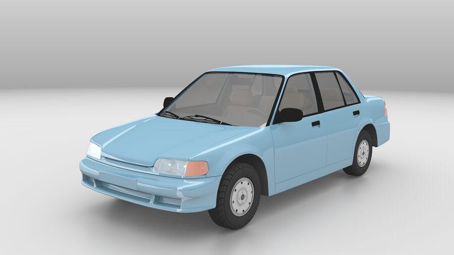 Generic car (Sedan) royalty-free 3d model - Preview no. 2