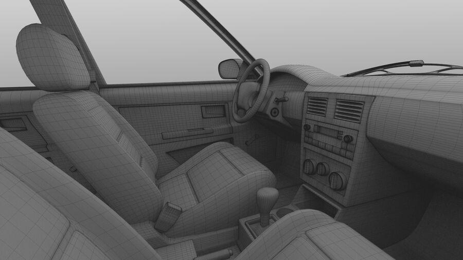 Generic car (Sedan) royalty-free 3d model - Preview no. 46
