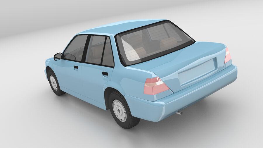 Generic car (Sedan) royalty-free 3d model - Preview no. 4
