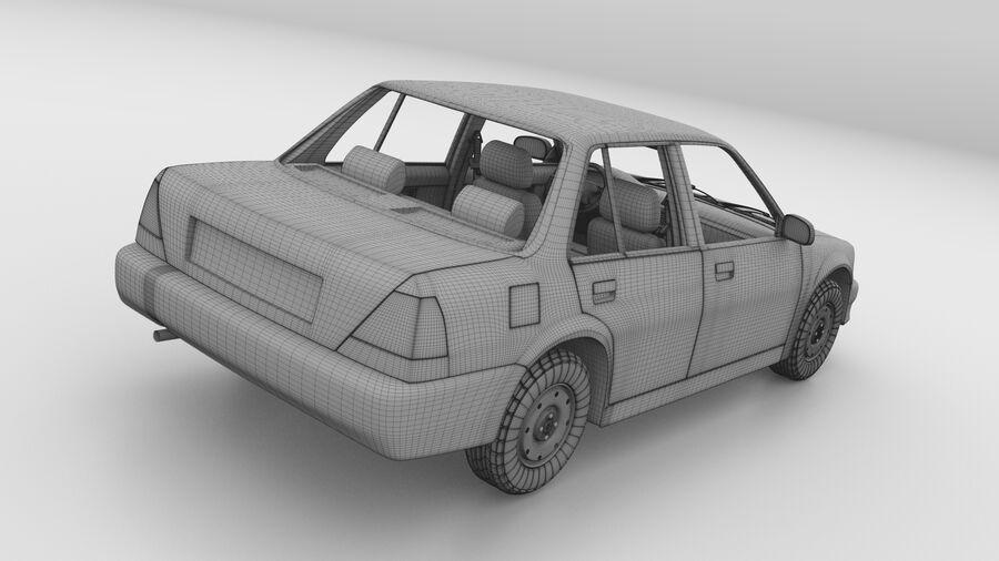 Generic car (Sedan) royalty-free 3d model - Preview no. 29